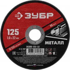 Круг отрезной абразивный по металлу для УШМ 125 x 10 мм ЗУБР