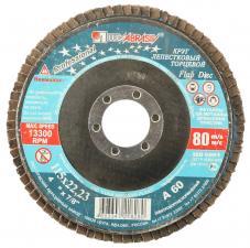 Круг лепестковый торцевой абразивный для шлифования 115 х 2223ммP60 ЛУГА 3656-115-25
