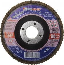 Круг лепестковый торцевой абразивный для шлифования 115 х 2223ммP80 ЛУГА 3656-115-80