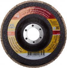Круг лепестковый торцевой абразивный для шлифования 125 х 2223ммP60 ЛУГА 3656-125-25