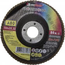 Круг лепестковый торцевой абразивный для шлифования 125 х 2223ммP80 ЛУГА 3656-125-80
