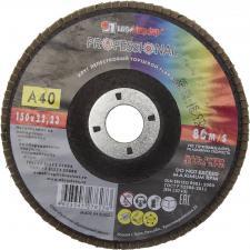 Круг лепестковый торцевой абразивный для шлифования 150 х 2223ммP40 ЛУГА 3656-150-40