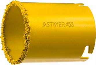 Кольцевая коронка с карбид-вольфрамовой крошкой STAYER PROFESSIONAL 33345-53
