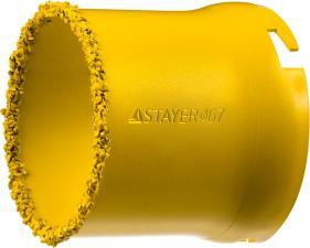 Кольцевая коронка с карбид-вольфрамовой крошкой STAYER PROFESSIONAL 33345-67