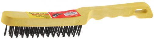 Щетка проволочная стальная / steel wire brush STAYER MASTER 35015-3