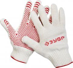 Перчатки трикотажные с защитой от скольжения ЗУБР МАСТЕР 11456-XL