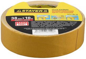 Лента клейкая двусторонняя STAYER PROFESSIONAL 1217-38-10