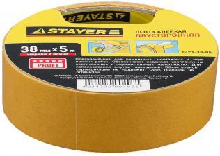 Лента клейкая двусторонняя STAYER MASTER 1221-38-05