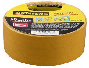 Лента клейкая двусторонняя STAYER MASTER 1221-50-05