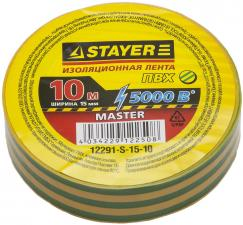 Изоляционная лента ПВХ STAYER MASTER 12291-S-15-10