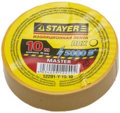 Изоляционная лента ПВХ STAYER MASTER 12291-Y-15-10