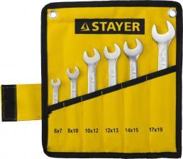 Набор ключей гаечных рожковых STAYER PROFESSIONAL 27035-H6