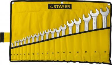 Набор ключей гаечных комбинированных STAYER PROFESSIONAL 27081-H18