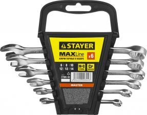 Набор ключей гаечных комбинированных STAYER MASTER 27085-H6