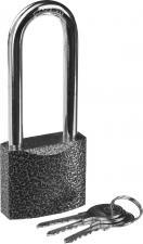 Замок навесной металлический корпус удлиненная дужка 50мм STAYER STANDARD 37160-50-1