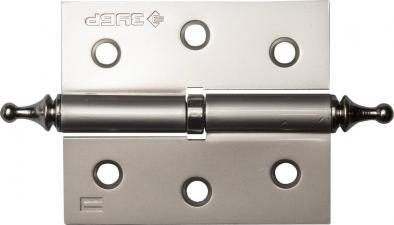 Петля дверная разъемная 1 подшипник цвет мат. никель (PN) правая с крепежом 75х63х25мм2шт ЗУБР ЭКСПЕРТ 37605-075-4R