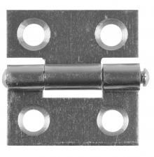 Петля стальная универсальная размер - 25X24X1мм Цвет белый цинк. STAYER MASTER 37611-25-1