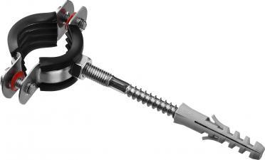 Хомут трубный в комплекте с сантехнической шпилькой и дюбелем ЗУБР МАСТЕР 37866-25-29