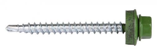 Саморезы для кровельных материалов окрашенные RAL 6002 ЗУБР ПРОФЕССИОНАЛ 4-300315-48-050-6002