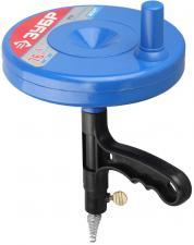 Трос сантехнический для прочистки труб и канализации в пластиковом корпусе ЗУБР ЭКСПЕРТ 51907-08