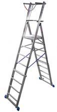 Телескопическая лестница с платформой Krause Stabilo 8-10 ступеней, арт.127648