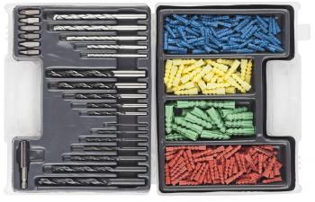 Комбинированный набор сверл с дюбелями 300 предметов DEXX 2970-H300