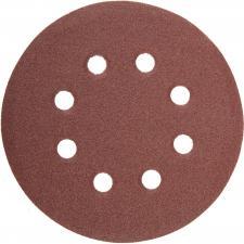 Круг  из абразивной бумаги 8 отверстий Р80 115мм 5шт STAYER MASTER 35450-115-080