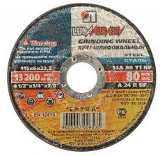 Круг шлифовальный абразивный по металлу 115х6х2223мм ЛУГА 3650-115-06