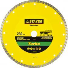 Круг отрезной алмазный для УШМ STAYER MASTER 36673-230