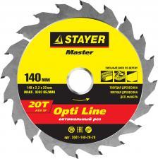 Диск пильный по дереву STAYER MASTER 3681-140-20-20