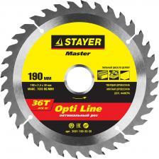 Диск пильный по дереву STAYER MASTER 3681-190-30-36
