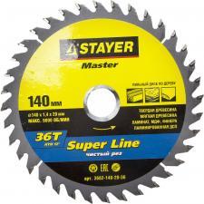 Диск пильный по дереву STAYER MASTER 3682-140-20-36
