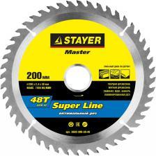 Диск пильный по дереву STAYER MASTER 3682-200-30-48