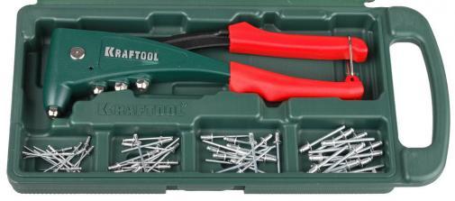 Заклепочник усиленный в комплекте с заклепками KRAFTOOL 31173-H6