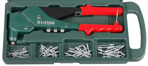 Заклепочник в комплекте с заклепками KRAFTOOL 31176-H6